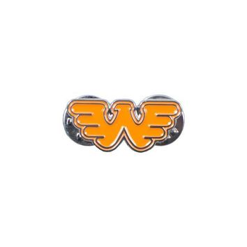 Flying W Waylon Jennings Pin - Texas Orange
