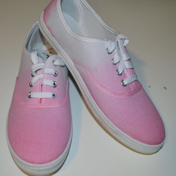 Women's Shoe Canvas Sneaker Hand Painted Ombre Pink: Custom Color, Style & Design