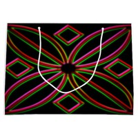 Colorful neon on a gift bag large gift bag