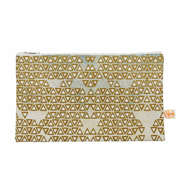 "Pom Graphic Design ""Mint & Gold Empire"" Yellow Geometric Everything Bag"