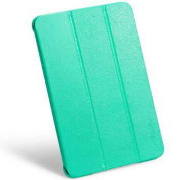 iPad mini case, INVELLOP Teal/Turquoise Leatherette Case Cover for Apple iPad mini / iPad mini 2 / iPad mini 3 (Teal/Turquoise)