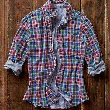 Effortlessly Cool Men's Shirts - Sorbet Plaid - Carbon2Cobalt