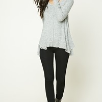 Trapeze Marled Knit Top