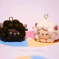 Cute Sheep Polymer Clay Charm