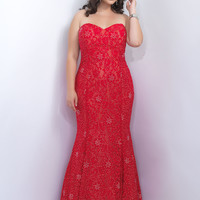 Sweetheart Lace Plus Size Too Prom Dress by Blush 11110W