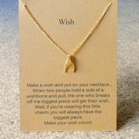 Make A Wish Necklace - Wishbone