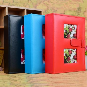 Retro Style Pu Leather Photo Album Insert Type Classic Leather Buckle 4R 6 Inch 200Pockets Baby Children's Family Album Book