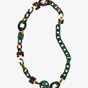 Tory Burch Resin Color-block Necklace