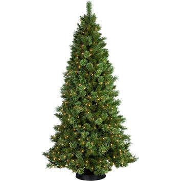 Pre-Lit 7' Sheridan Cashmere Pine Artificial Christmas Tree, 350 Clear Lights - Walmart.com