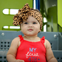 Baby girl bow, leopard headband, newborn bow, baby headband, cheetah head wrap, cheetah baby bow, baby girl headband