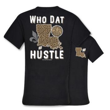 Southern Couture New Orleans Saints Who Dat Hustle Fleur De Lis T-Shirt