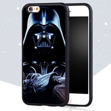 darth vader star War Printed Soft Rubber Phone Cases For iPhone 6 6S Plus 7 7 Plus 5 5S 5C SE 4S Back Cover Shell