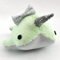 Plush Narwhal w/ Sparkle Bow MADE TO ORDER by OstrichFarm