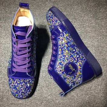 Cl Christian Louboutin Rythinestone Style #1923 Sneakers Fashion Shoes - Best Online Sale