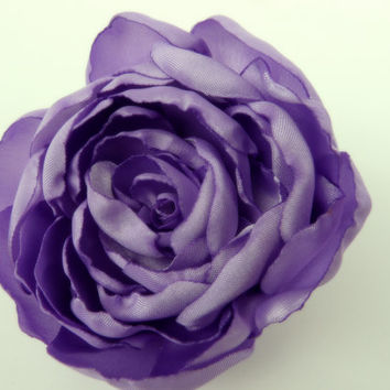 Lavender Hair Flower, Lavender Hair Accessory, Violet Flower, Amethyst Purple Flower Hair Clip