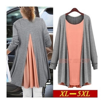 WOMan Tops Fashion  New Arrival Autumn European Blusas Plus Size Long Sleeve Chiffon Patchwork Casual Blouses 4XL 5XL 152 = 1958609092