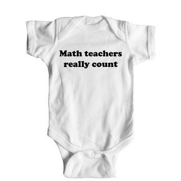 Math Teachers Really Count Baby Onesuit