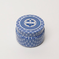 Printed Travel Tin in Blue Jean