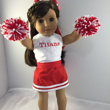 American Girl Doll Clothes, Doll Cheer Outfit, 18 Inch Doll Clothes, Custom Doll Clothes, American Girl Cheer Uniform, 18 Inch Dolls, Dolls