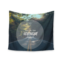 "Ann Barnes ""The Adventure Begins"" Typography Nature Wall Tapestry"
