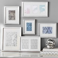 Gallery Frames, Set of 6, Silver