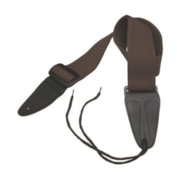 Guitar Strap with Leather Ends (Brown)