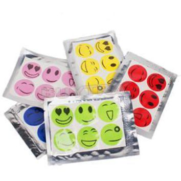 120 PCS Smiling Face Cartoon Mosquito Repellent Sticker Anti Pest Repeller Patch Mosquito Killer Reject Baby Protector