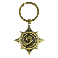 WOW Warcraft Hearthstone Logo Keychain Hearthstone Gifts Heroes Of Warcraft Zinc Alloy Official Classic Game Key Ring Pendant