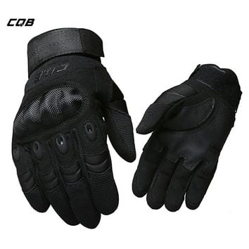 CQB Outdoor Sports Camping Tactical Men's Military Gloves Full Finger Motorcycle Gloves for  Hiking Riding Cycling