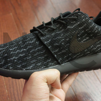 562ee82559f4b Pirate Black Yeezy 350 Boost Nike Roshe from NYCustoms on Etsy