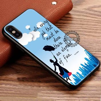 Element of Fun Quotes Mary Poppins iPhone X 8 7 Plus 6s Cases Samsung Galaxy S8 Plus S7 edge NOTE 8 Covers #iphoneX #SamsungS8