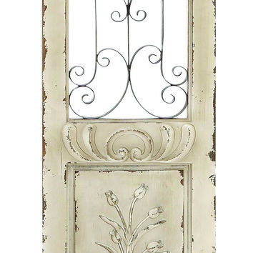 "Wood Metal Wall Panel 62""H, 16""W Wall Decor"
