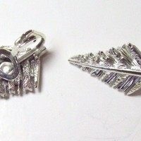 Vintage Coro Silvertone Tree Earrings