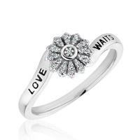 Sterling Silver Diamond Purity Ring