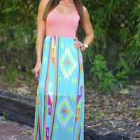 Back To My Roots Maxi Dress: Peach   Hope's