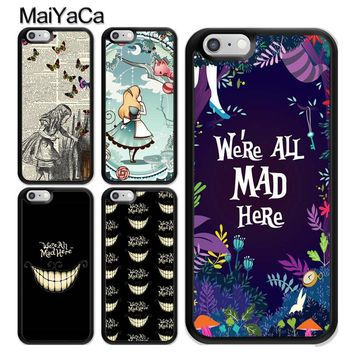 MaiYaCa Alice in Wonderland Soft TPU Skin Mobile Phone Case Funda For iPhone 6 6S Plus 7 8 Plus X 5 5S SE Back Cover Shell