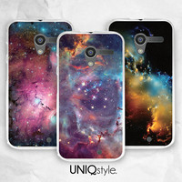 Galaxy sky phone case - Moto G case - Moto X case - Moto E case - night sky phone cover - free screen protector included - I20