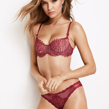 Lace & Dot Mesh Cheekini Panty - Dream Angels - Victoria's Secret