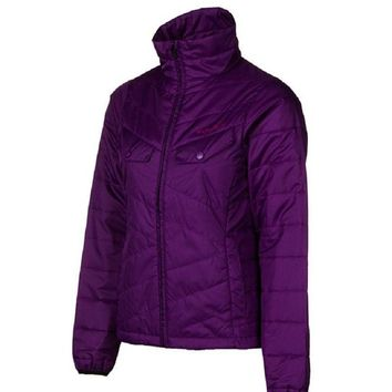 Flylow Womens Purple Piper Puffy Lightweight Jacket Coat Snowboarding & Ski $160