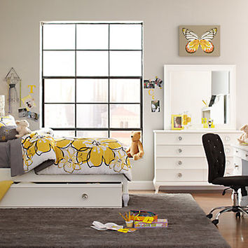 Milan White 5 Pc Twin Bedroom