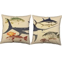 Deep Sea Fish Throw Pillows