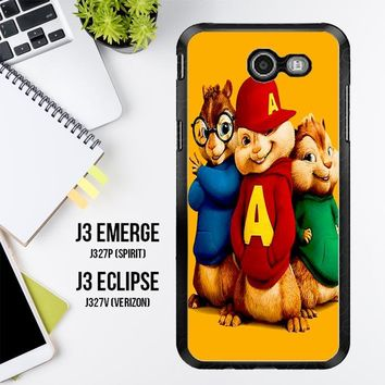 Alvin And The Chipmunks Character V 2074 Samsung Galaxy J3 Emerge, J3 Eclipse , Amp Prime 2, Express Prime 2 2017 SM J327 Case