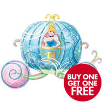 Foil Carriage Cinderella Balloon 38in- Party City