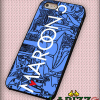 "maroon 5 logo cartoon for iphone 4/4s/5/5s/5c/6/6+, Samsung S3/S4/S5/S6, iPad 2/3/4/Air/Mini, iPod 4/5, Samsung Note 3/4 Case ""002"""