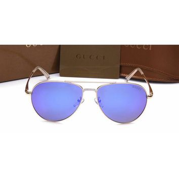 Gucci Women Casual Sun Shades Eyeglasses Glasses Sunglasses Deep Blue G