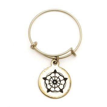 Alex and Ani Rose of the Blessed Mother Spiritual Imprint Expandable Wire Ring - 14kt Gold Filled