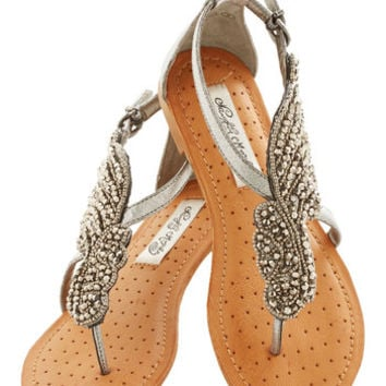 ModCloth A Flight to See Sandal in Silver