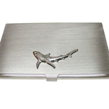 Blue Shark Business Card Holder