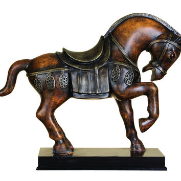 Polystone Tang Horse Unique Table Accent