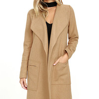 Travel the Globe Tan Coat